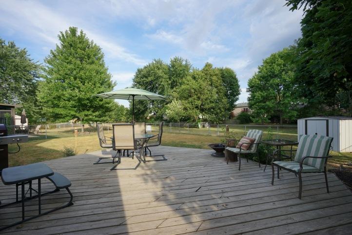 Rear Deck and Yard