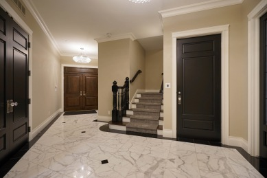 Foyer with Double Entry Doors and Lift
