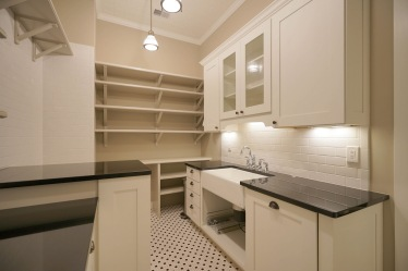 Pantry with Farmhouse Sink